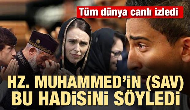 Dünya canlı izledi! Hz. Muhammed'in (SAV) bu hadisini söyledi