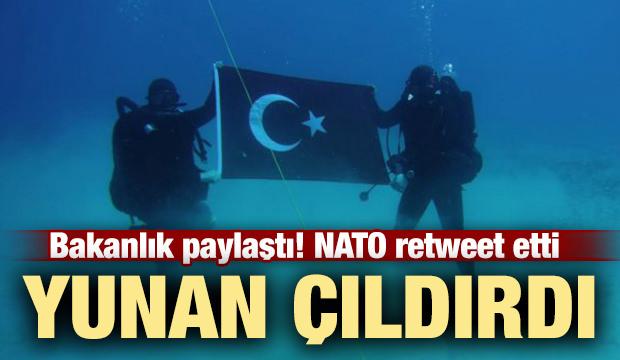 NATO retweet etti! Yunanistan'ı çıldırtan fotoğraf