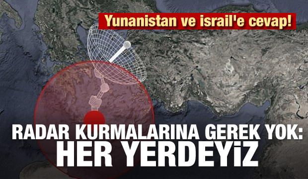 Yunanistan ve İsrail'e cevap! Radar kurmalarına gerek yok: Her yerdeyiz