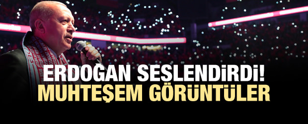 Erdoğan'dan 'bizimkisi bir aşk hikayesi'