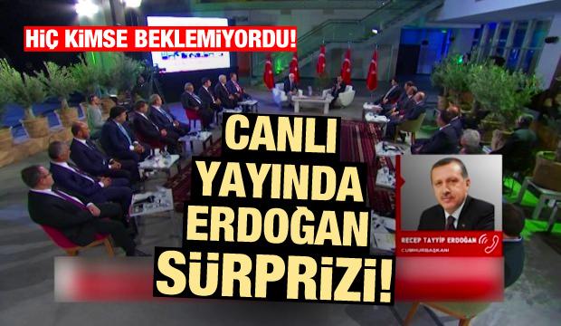 Ülke TV canlı yayınında Erdoğan sürprizi! Hiç kimse beklemiyordu