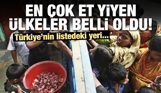 En çok eti hangi ülke yiyor? Türkiye listede kaçıncı sırada?