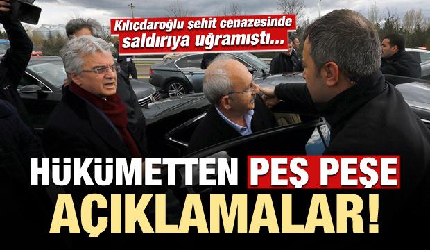 Kılıçdaroğlu'na saldırı sonrası Hükümet'ten peş peşe açıklamalar...
