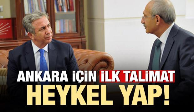 Kılıçdaroğlu'ndan Yavaş'a Ankara için ilk talimat: 'Heykel yapın'