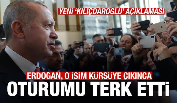 Başkan Erdoğan, Meclis'teki oturumu terk etti, açıklamalarda bulundu