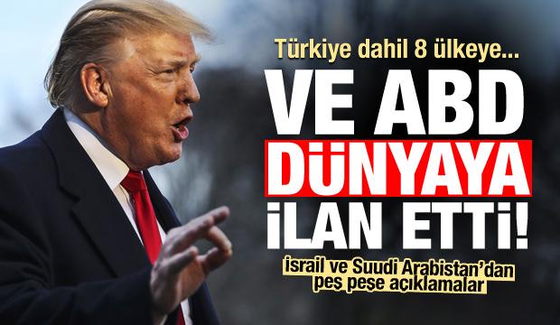 Beyaz Saray resmen duyurdu! Türkiye dahil 8 ülke...