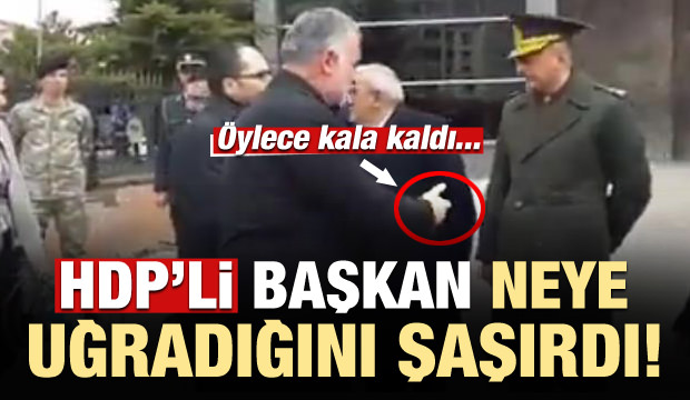 HDP'li başkana soğuk duş! Öylece kala kaldı...
