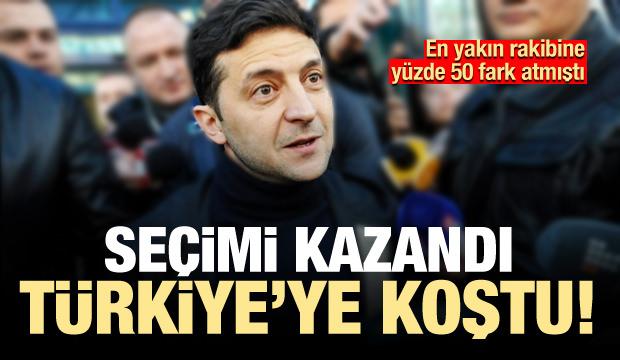 Seçimi yüzde 73'le kazandı dört gün sonra Türkiye'ye koştu
