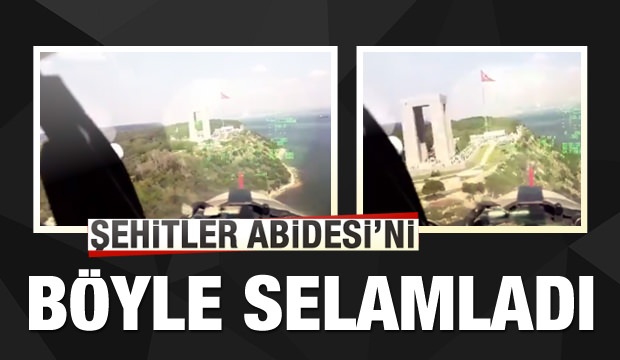 Türk Yıldızları, Şehitler Abidesi'ni böyle selamladı