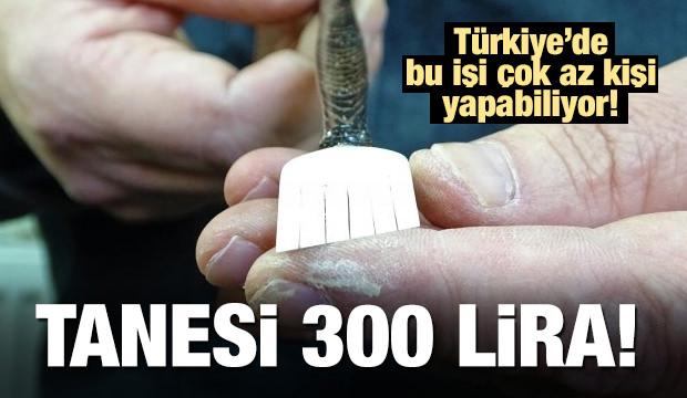 Türkiye'de bu işi çok az kişi yapıyor! Tanesi 300 lira!