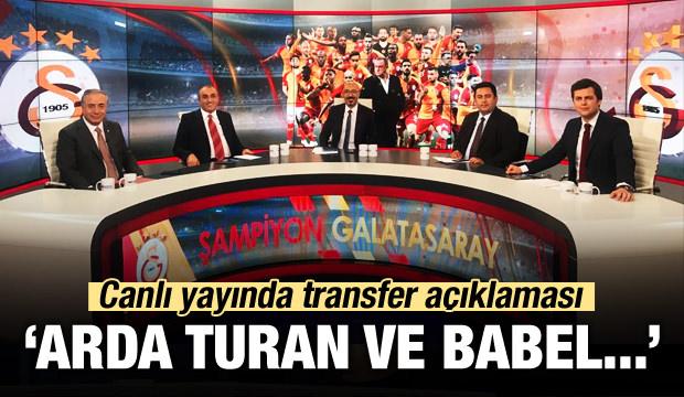 Canlı yayında transfer açıklaması! 'Babel ve Arda...'