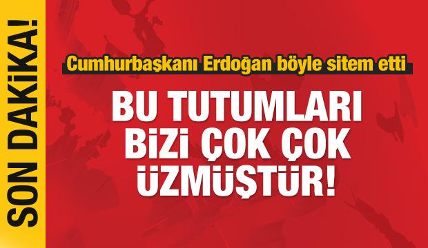 Erdoğan sitem etti: Bu tutumları bizi çok çok üzmüştür