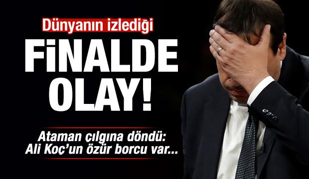 Euroleague finalinde olay! Ergin Ataman çılgına döndü!