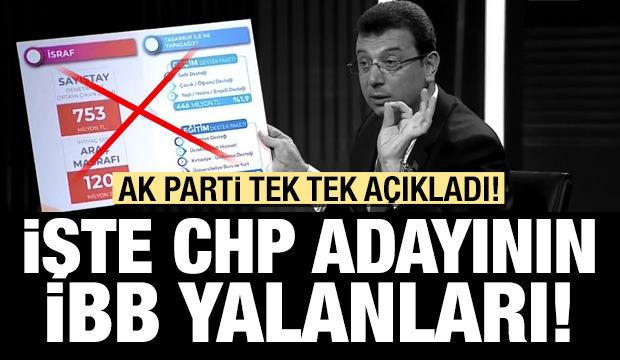 İşte CHP ve yayın organlarının İBB yalanları!