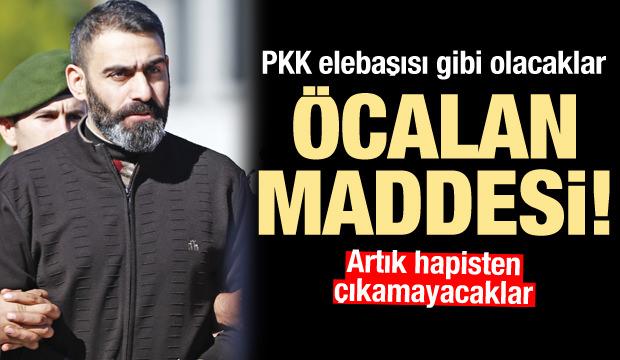 PKK elebaşı Öcalan gibi olacak... Ömür boyu hapiste kalacaklar