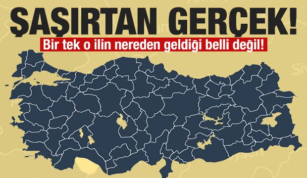 Türkiye'de adının nereden geldiği bilinmeyen tek il!