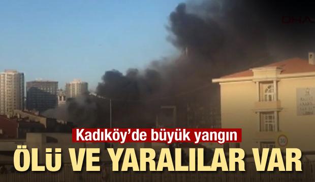 Kadıköy Fikirtepe'de feci yangın! Ölü ve yaralılar var