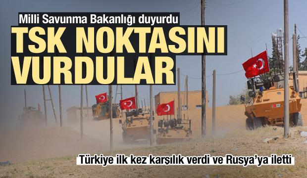 Türkiye ilk kez karşılık verdi, Rusya'ya iletti! TSK noktasına saldırı