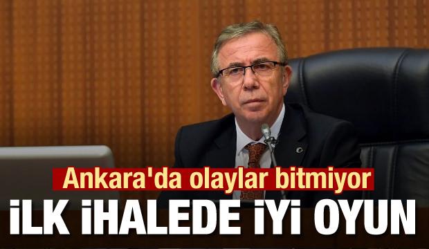 Ankara'da olaylar bitmiyor! İlk ihalede İYİ oyun