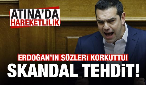 Erdoğan'ın sözleri sonrası Atina'da hareketlilik