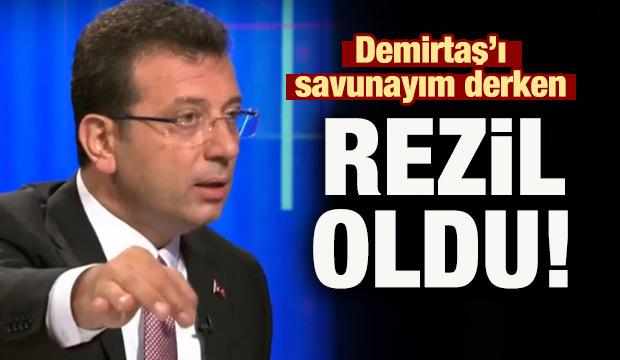 İmamoğlu Demirtaş'ı savunayım derken rezil oldu!