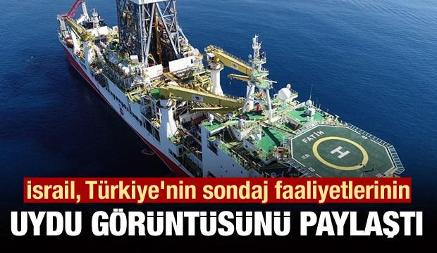 İsrail, Türkiye'nin sondaj faaliyetlerinin uydu görüntüsünü paylaştı