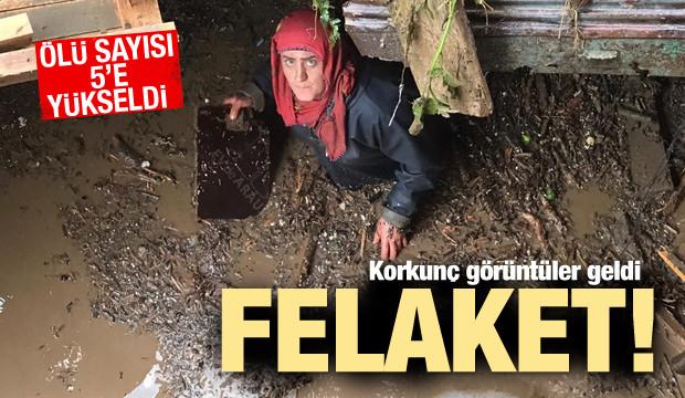Trabzon'da taşkın: 4 ölü, 6 kayıp