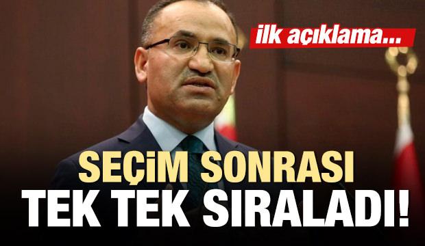AK Parti Milletvekili Bekir Bozdağ: Artık bizlere düşen...
