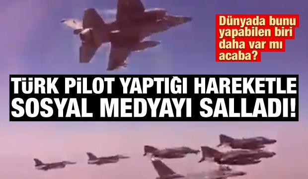 'Anadolu Kartalları' pilotunun yaptığı hareket sosyal medyayı salladı