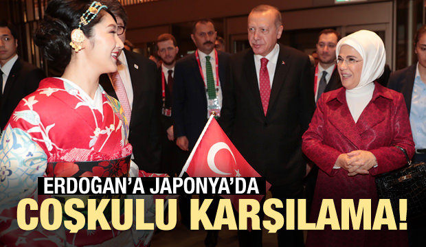 Başkan Erdoğan, Japonya'da böyle karşılandı!