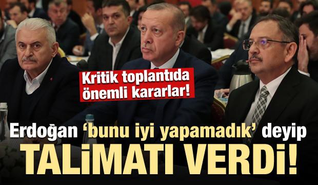 Erdoğan kritik toplantıda talimatı verdi!