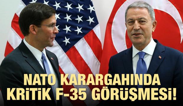 Hulusi Akar'dan ABD'yle çok kritik F35 görüşmesi