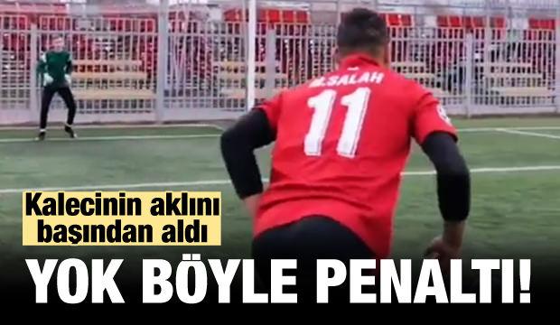 Yok böyle penaltı! Kalecinin aklını başından aldı...