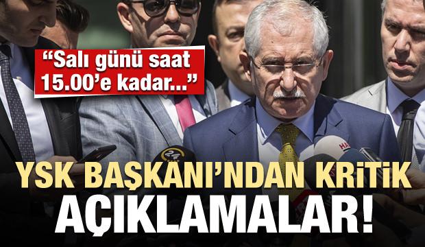 YSK Başkanı Sadi Güven'den kritik açıklamalar