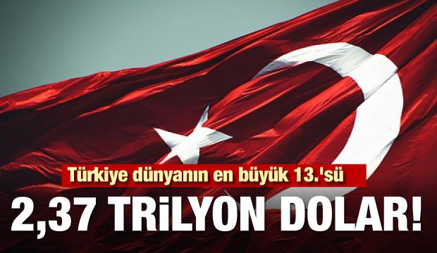 2,37 trilyon dolar! Türkiye dünyanın en büyük 13.'sü