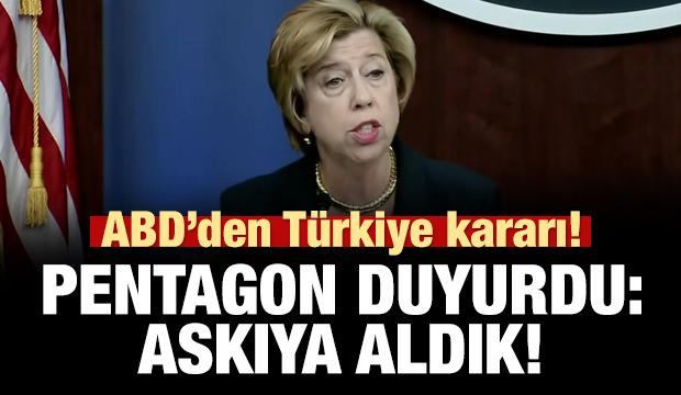 ABD'den Türkiye ve F-35 kararı! Pentagon duyurdu: Askıya aldık!