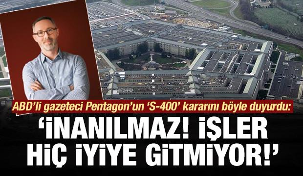 ABD'li gazeteci Pentagon'un kararını böyle duyurdu: İnanılmaz!