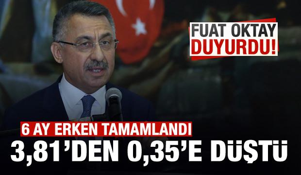 Cumhurbaşkanı Yardımcısı Oktay açıkladı: 6 ay erken tamamlandı