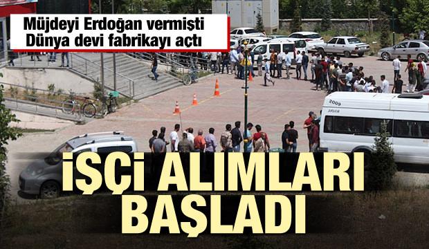 Dünya devi Türkiye'de fabrikayı açtı! işçi alımları başladı