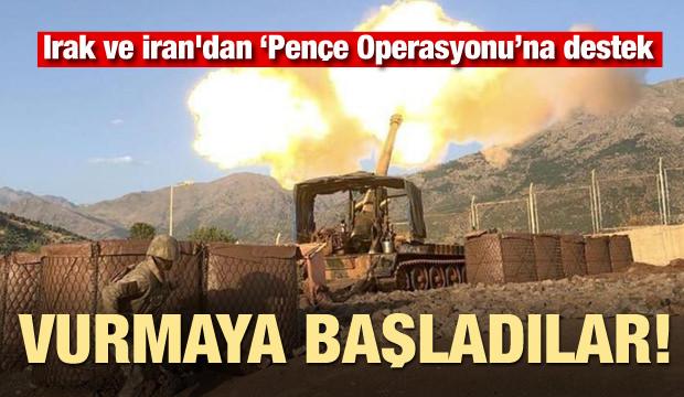 Irak ve İran'dan 'Pençe Operasyonu'na destek! Vurmaya başladılar