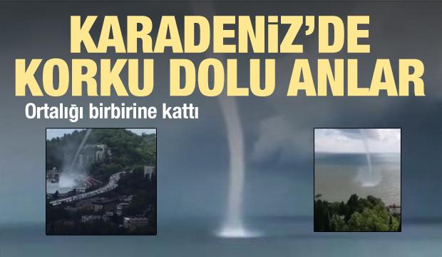 Karadeniz'de korku dolu anlar: Soçi'yi hortum vurdu