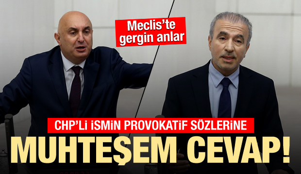 Meclis'te CHP provokasyonu: Bostancı'dan muhteşem cevap
