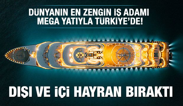Mega yat 'Flying Fox' Bodrum'a demir attı!