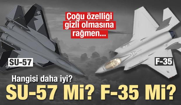 SU-57'mi F-35 mi? İşte özellikleri...