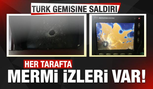 Türk gemisine saldırı! Yeni görüntüler