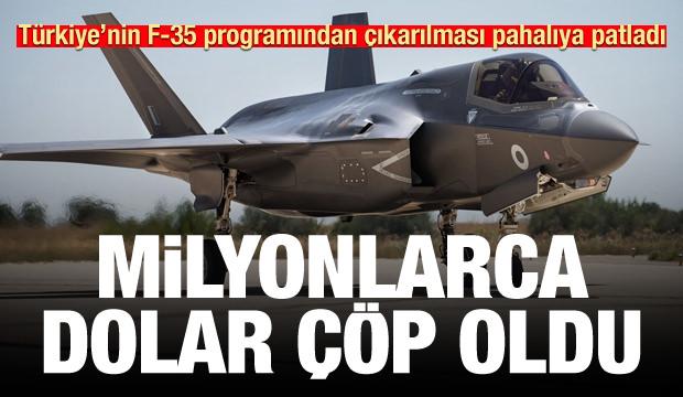 Türkiye'nin F-35 programından çıkarılması 600 milyon doları çöp etti