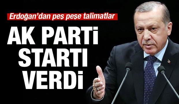 AK Parti startı verdi!
