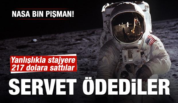 Ay'a ayak basılan anın görüntüleri satıldı!