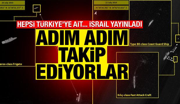 İsrail, Türkiye'ye ait gemilerin görüntülerini ve konumunu yayınladı