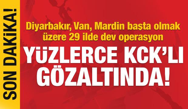 29 ilde KCK dev operasyon 418 gözaltı!